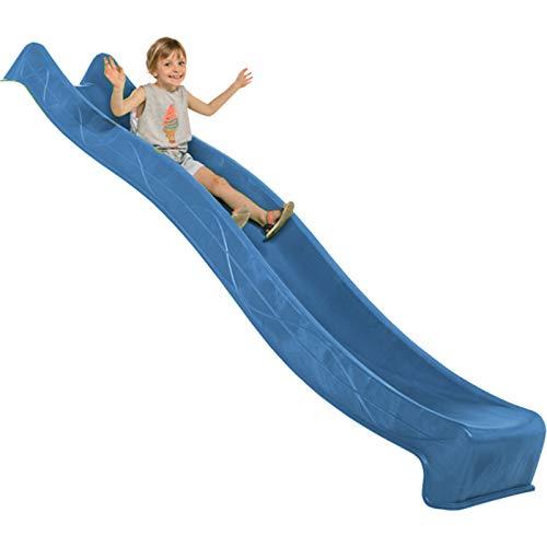 Demmelhuber Rutsche WATERSLIDE 2,90 m mit Wasseranschluss für Spielturm Wellenrutsche Gartenrutsche Kinderrutsche Anbaurutsche Wasserrutsche (Blau)