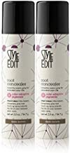 Style Edit Root Concealer Touch Up Spray | Instantly Covers Grey Roots | Professional Salon Quality Cover Up Hair Products for Women |Dark Brown, 2 Ounce (Pack of 2)