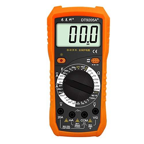 iplusmile DT9205A + Digitales Auto-Multimeter mit 9-V-Batterie für industrielle Geräte
