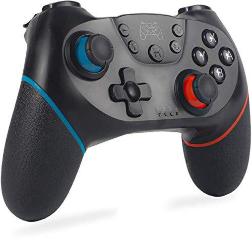 ICDOT Wireless Controller für Nintendo Switch Pro/Lite, Bluetooth Joypad mit Zwei Stoßdämpfern/Vibrationsmotor/ 6-Achsen-Kreisel/Verstellbarer Turbo-/Fernbedienungs-Joystick