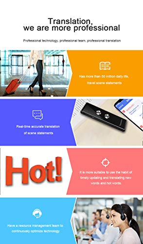 Language Translator Device Smart Two Way Voice Translator Bluetooth Support 44 Languages for Travelling Abroad Learning Shopping Business Chat Recording Translations Photo #3