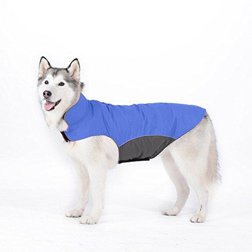 Tuopuda Mascotas Ropa Perro Grande medianos Invierno Calentar Clothes para medianos Grande Perros (5XL, Azul)