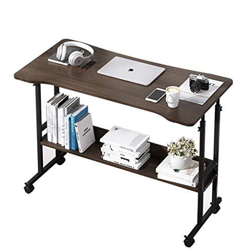 Scrivania per computer, portatile, portatile, scrivania, letto, regolabile, portatile, portatile, scrivania da studio, tavolo con ruote, divano regolabile, 119,4 x 59,7 x 78,7 cm (colore ebano)