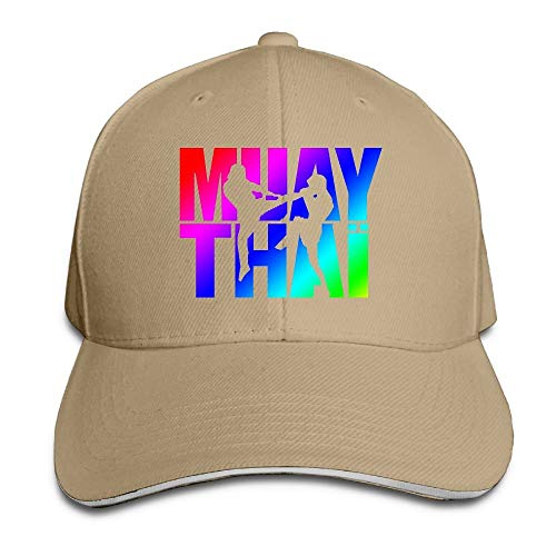 Hoklcvd Muay Thai Box 1 Baseballmütze Baumwolle Einstellbare Damen Niedrige Sandwichmütze Multicolor72