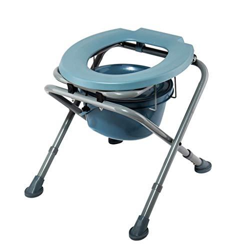 GYZ KopfendeCommode Lehrstuhl Mobile Dusche Stuhl, Seniorengerecht mit eingeschränkter Mobilität, Lager Gewicht 180 kg WC Sicherheitsrahmen (Color : A)