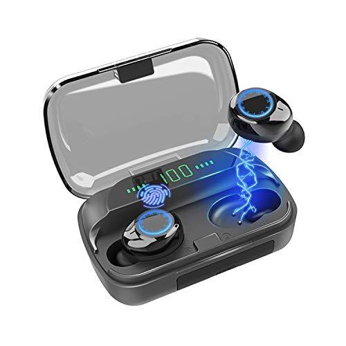 Bluetooth Kopfhörer, kabellose Ohrhörer mit Smart LCD-Digital-Display-Ladekoffer, Drahtlose Kopfhörer mit?HD-HiFi-Stereo ?Touch-Steuerung, IP7 wasserdicht?in Sport in Ear-Kopfhörern für Android