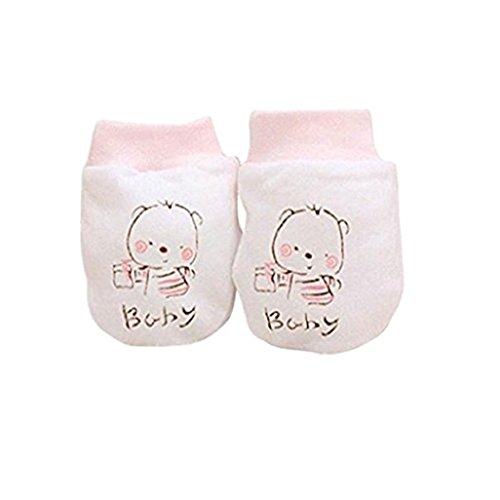 Gants bébé Auxma Bébé Garçons Filles Charmant Cartoon Anti gants scratch Soft Gants (Rose)