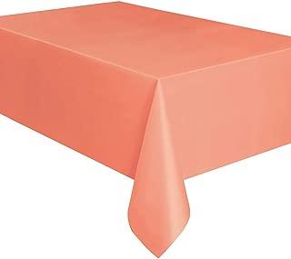 """Unique Rectangular Plastic Table Cover, Coral, 137cm x 274cm (54"""" x 108"""")"""