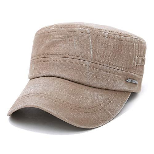 JWLJG-ZZ Casquette de Baseball Spring Summer Vintage Hats for Men Women Casual Flat Top Military Cap Army Caps Solid Sun Hat Adjustable