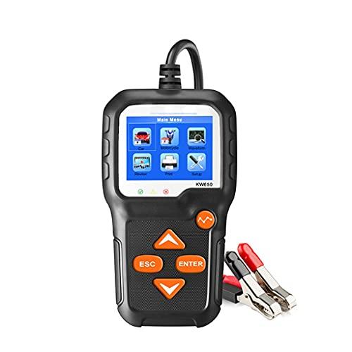 UOEIDOSB KW650 Batidor de Motocicleta automático 1 2V 6V Analizador del Sistema de batería 200 0CCA Probador de batería de Coche Que Carga la Herramienta de Carga de Cricut