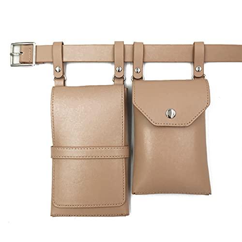 PING - Riñonera de piel sintética para mujer, de lujo, bolsa de cinturón para mujer, Kh.,