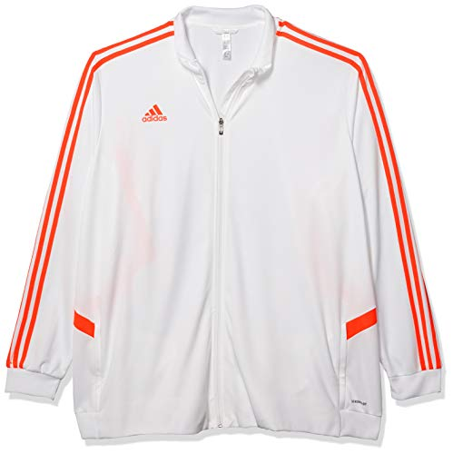 adidas Men's Soccer Tiro Track Jacket White/Solar Red X-Large