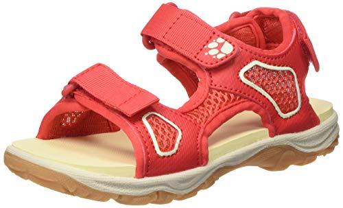 Jack Wolfskin Unisex-Kinder TARACO Beach K Sport Sandalen, Rot (Red/Champagne 2132), 27 EU