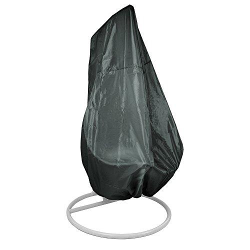 ESTEXO Abdeckhaube passend für Einsitzer-Hängesessel, Gartenmöbelhülle, Abdeckung, Schutzhülle, Schutzhaube (Dunkelgrün)