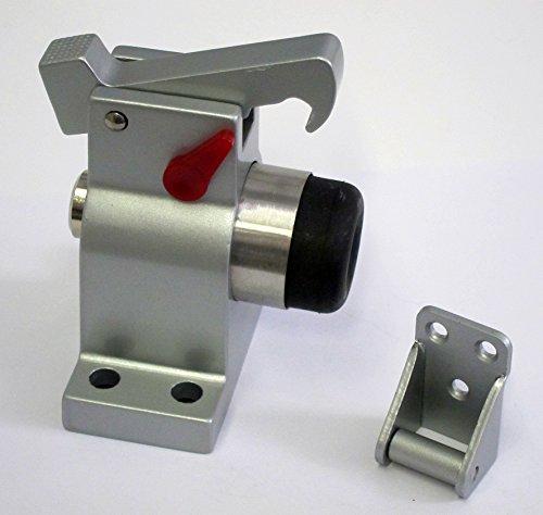 Türstopper TS-83030 Grau Massiver Alu Guss Bodenmontage mit Feststeller Türpuffer