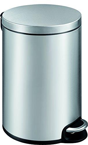 EKO Poubelle à Pédale Métal Inox 45,5 x 29,2 x 45,5 cm 20 litres