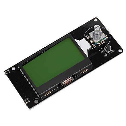 Annadue Pantalla LCD de la Impresora, Piezas de la Pantalla de la Impresora con un codificador para Imprimir(Black on Green)