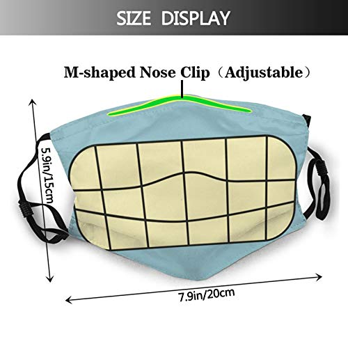 Mask Bender Futurama Adult Adjustable Wind and Dust-Proof with Filter One Size with 6 Filter