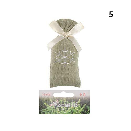 Xinger Geurig Zakje Natuurlijke Aromatherapie Motbestendig Wierookzakje Luchtverfrisser Deodorant Auto Ornament Woondecoratie Accessoires, vanille