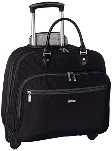 Baggallini 4 Wheel Rolling Tote, Black/Charcoal