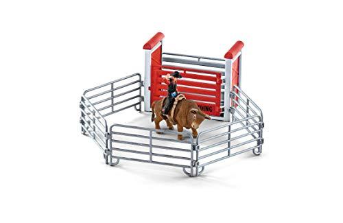 Schleich- Colección Farm World Set de Figuras de Monta de Toros con Vaquero (41419)