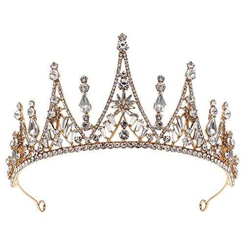 FRCOLOR Corona de Cristal Y Tiaras de Diamantes de Imitación Diadema para...