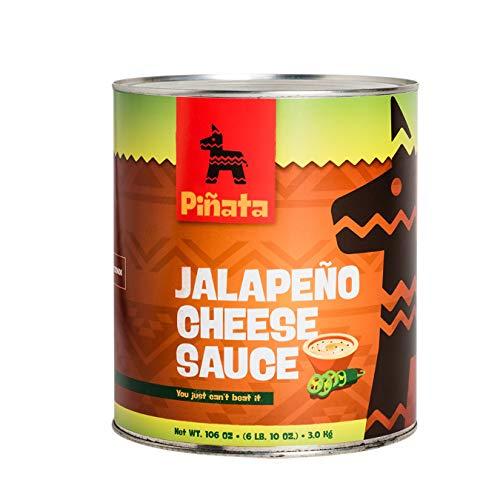 Pinata Jalapenio Cheese Sauce | 3000g | Tex-Mex-Küche | mittelscharf | Kombination aus Cheddar-Käse und Jalapeno-Chilis | für warme und kalte Speisen | Hervorragender Geschmack