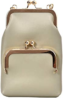 Wultia - Women Shoulder Bag Lock Slant Crossbody Bags Mini Back Pack USB Kids Wallet Messenger Bag Small Travel Pouch #G8 Green