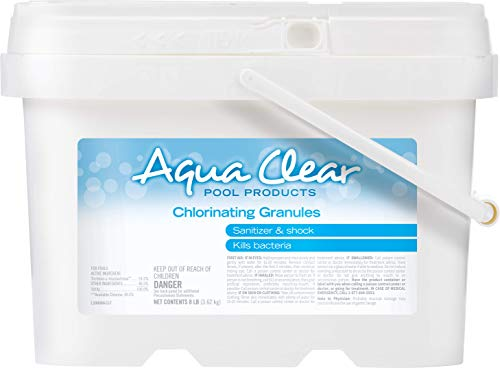 Aqua Clear 22008ACL Pool Products Chlorinating Granules, 8 lb