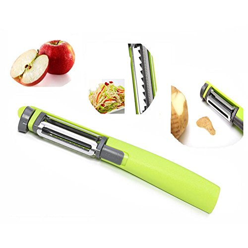 3 en 1 légumes fruits éplucheur rotatif rotatif lame Chipping ondulés /& dentelée
