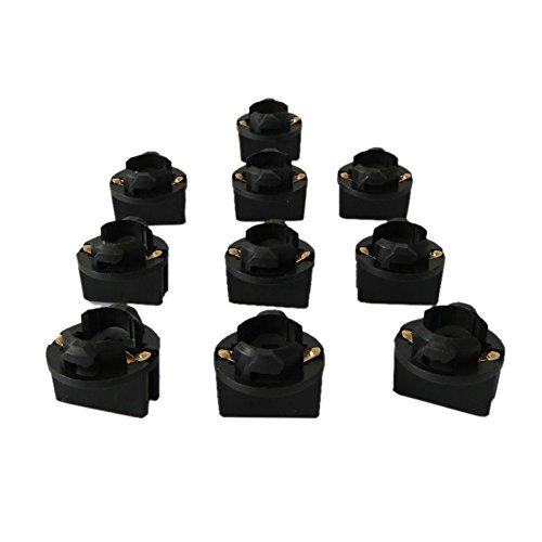 WLJH 10pcs T10 168 Twist Lock Wedge 194 W5 W ampoules Base Sockets Instrument Cluster de panneau Plug lampe Dash ampoule