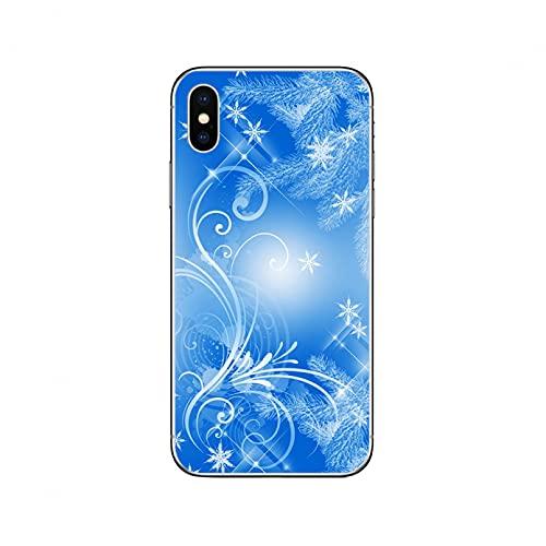 KBFHD Feliz Navidad Funda para iPhone 11 Funda para iPhone 12 11 Pro XR 7 X XS MAX Mini 8 6 6S Plus 5S SE Funda de Silicona