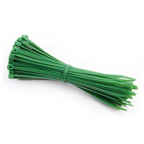 intervisio Bridas de Plastico para Cables 200mm x 4,8mm / Color Verde / 100 Piezas de Colores