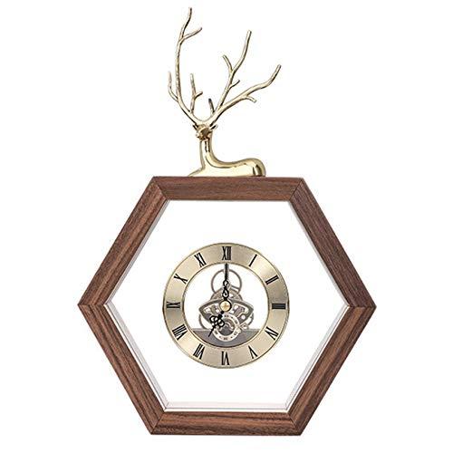 ZCZZ Reloj de Mesa, Nuevo Reloj de Mesa Creativo de Estilo Chino, Sala de Estar, Reloj de Moda para el hogar, Adornos, Reloj de Mesa Creativo de Estilo Chino