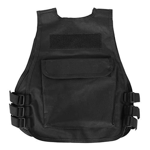 DAUERHAFT Chaleco de Camuflaje Proceso de Costura Profesional con Correas Laterales Ajustables, para Juegos al Aire Libre(Black S)