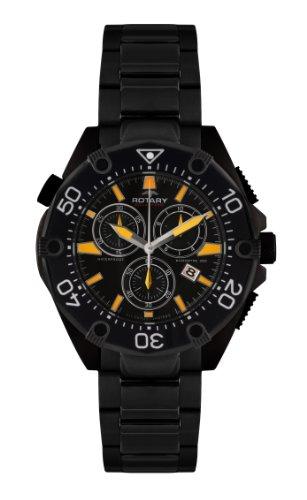 Rotary Herren-Armbanduhr XL Aquaspeed Chronograph Edelstahl beschichtet AGB00037/C/04