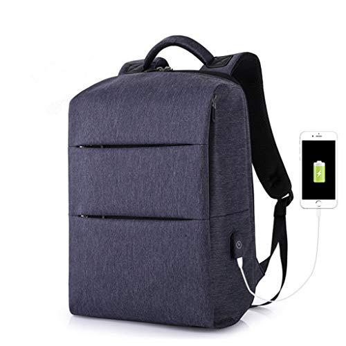 OCCMFZD USB Sac À Dos De Grande Capacité De Sac À Dos College Wind Backpack Extérieur Imperméable À l'eau pour Hommes (Color : Blue)