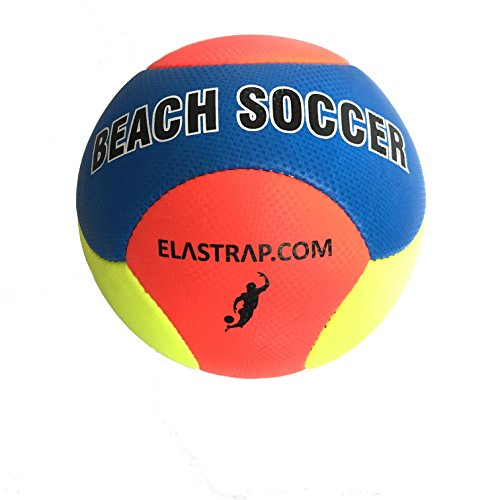 elastrap Ballon Beach Soccer Plage Sport Football Foot- Balle Gonflable Officiel - Léger - Résistant