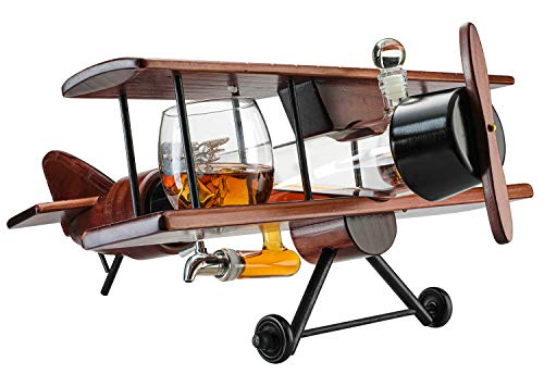 7. Airplane Whiskey Decanter and Glass Set