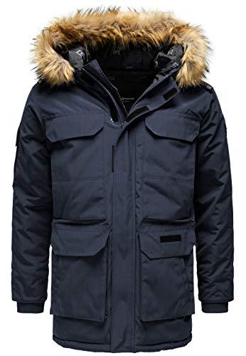 Redbridge Abrigo Invernal para Hombre Capote Chaqueta con Capucha Azul XXL