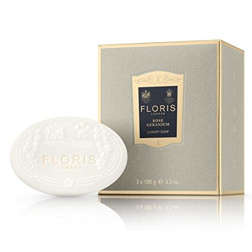 FLORIS LONDON Rose Geranium Colección De Jabón De Lujo - 3 Unidades x 100 gr.