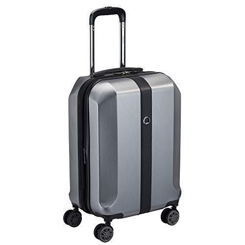 DELSEY Paris First Class Expandable Luggage with Spinner Wheels, Silver, Carry-On 21-Inch