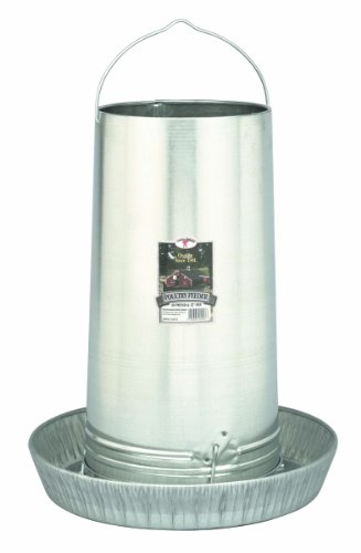 Little Giant Hanging Metal Poultry Feeder (40 Pound) Galvanized Steel Feed Container with Hanging Handle (Item No. 914273)
