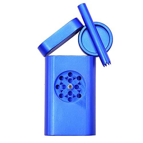 BNMY Tapa Magnética De Aluminio Portátil Stash para Prueba De Olores   Diseño Especial con Mini Amoladora, Diseño De Cubierta Mejorado, Diseño De Viaje Resistente A Los Olores,Azul