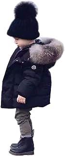 Odziezet Cappotto con Cappuccio Piumino da Unisex Bambino Parka Zip Up Impermeabile Invernale 0-6 Anni