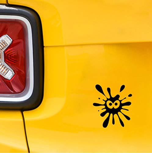 Autoaufkleber Auto Aufkleber Paintball Sun Face Vinyl Decals Schwarz 12Cm * 13.7Cm 2pcs