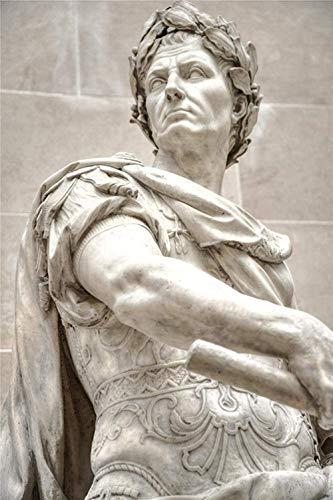 Puzzle 1000 Stück Holzpuzzle 3D-Puzzles Puzzle Holz Puzzle Julius Caesar Statue Marmor Große Geschenk Mädchen und Kind