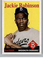 2019 Topps Archives Baseball #44 Jackie Robinson Brooklyn Dodgers (1958 Topps Design) Official MLB Trading Card