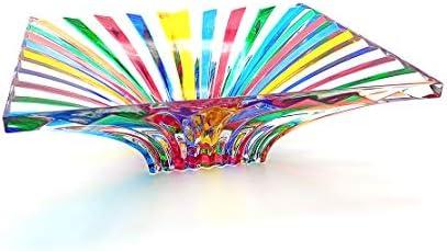 centro de mesa de cristal Metaphora pintado a mano multicolor estilo Murano Venecia