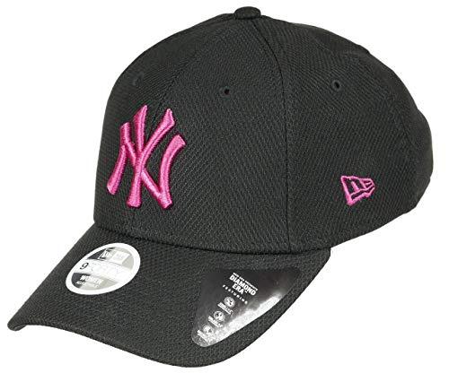 New Era New York Yankees Cap MLB Baseball 9forty Damen Verstellbar Schwarz Pink - One-Size